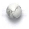 Semi-Precious 6mm Round White Howlite